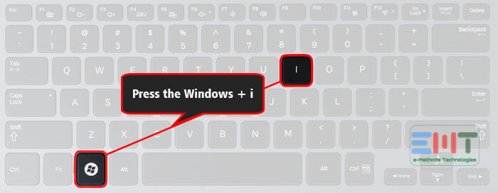 Press Windows key + I to open the Settings app