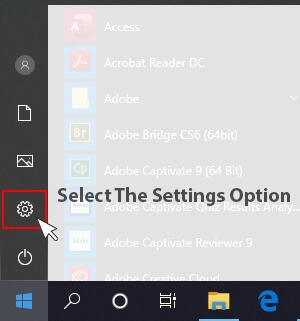 Windows 10 settings icon