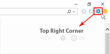 Click The Gear Icon In The Top Right Corner of browser