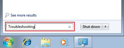 Search For Troubleshooting in the search box in windows 7