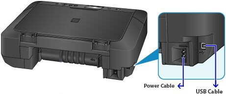 Detach The Data Cable From The Canon Printer