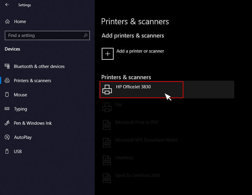 Select hp printer prints blank pages in windows 10