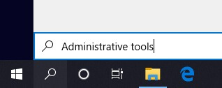 Search box on the taskbar windows 10
