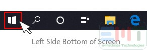 Click on Start button in windows 10