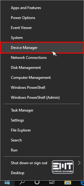 now Click on Device Manager