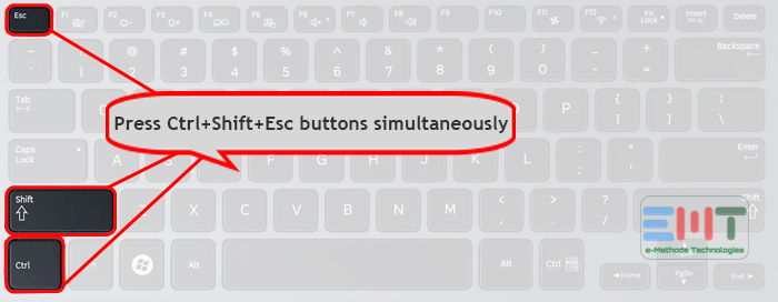 Press Ctrl+Shift+Esc buttons simultaneously