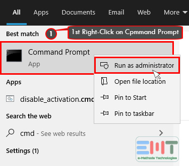 Right click on the Command prompt (2)