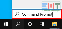 Search Command Prompt in the search box on the taskbar