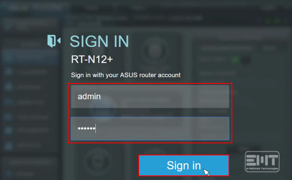 how to login asus router
