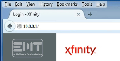 type the default ip address of Xfinity router