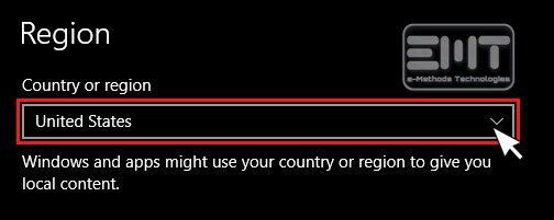 Choose Your Country Region