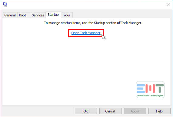 Click on the Open Task Manager option
