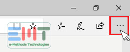 Click on the edge browser menu icon