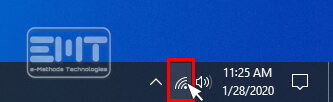 Click on the wifi icon