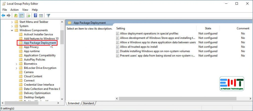 Now select the App Package Deployment option