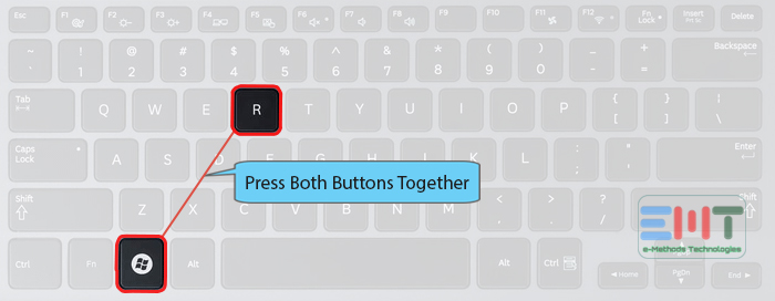 Press the Windows logo and R button together