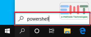 Type powershell in the box