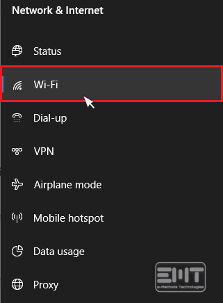 Choose the Manage Wifi Settings option