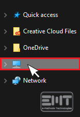 Click on this PC from the left options