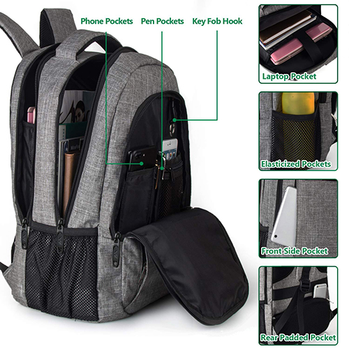 Matein Laptops Backpack spaces