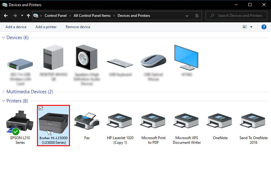 Select The View Devices And Printers Menu