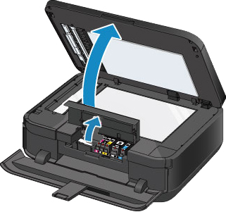 open front panel of canon printer