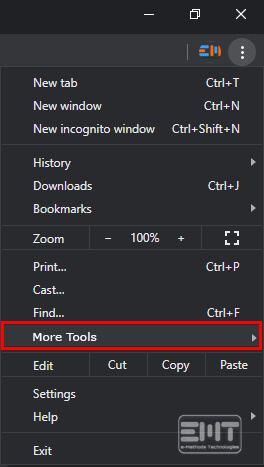 Click on more tools option