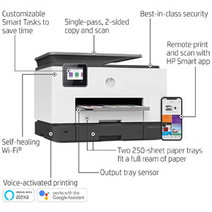 HP OfficeJet Pro 9025 All-in-One Wireless Printer, with Smart Home Office Productivity