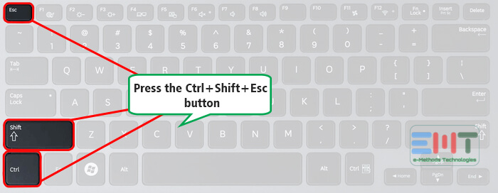 Press Ctrl+Shift+Esc buttons