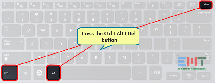 Press the Ctrl+ Alt+ Del button