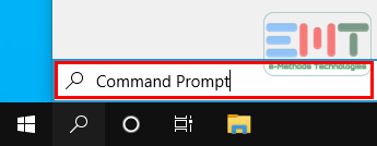 Type command prompt in the search box