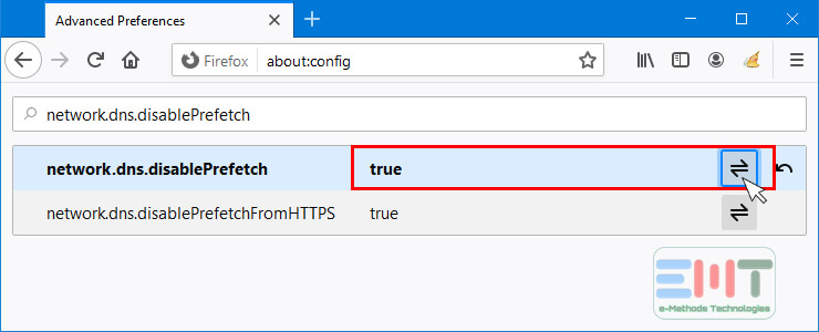 Click on Toggle button to set the value to true