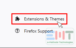 Go to Extensions & themes
