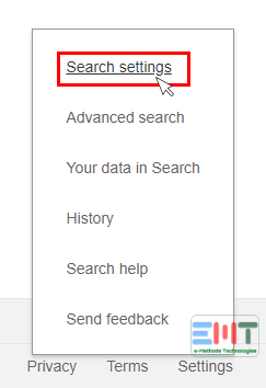 Choose Search settings