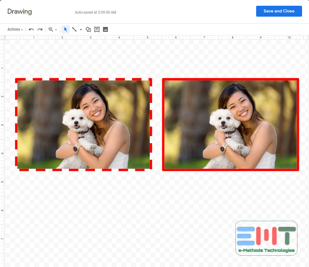 You can customize your Image with a border menu