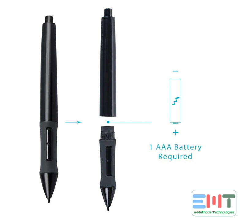 how to change Huion pen battery