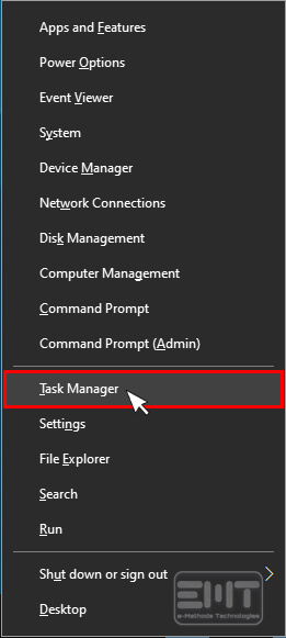 Click on taskmanager