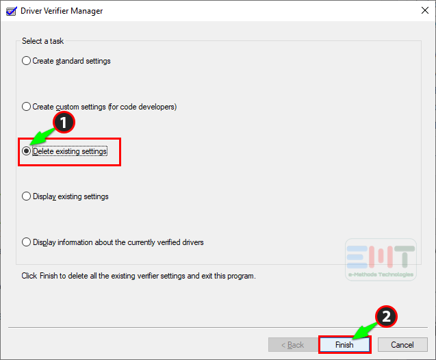 Select-the-delet-existing-settings-and-click-on-finish